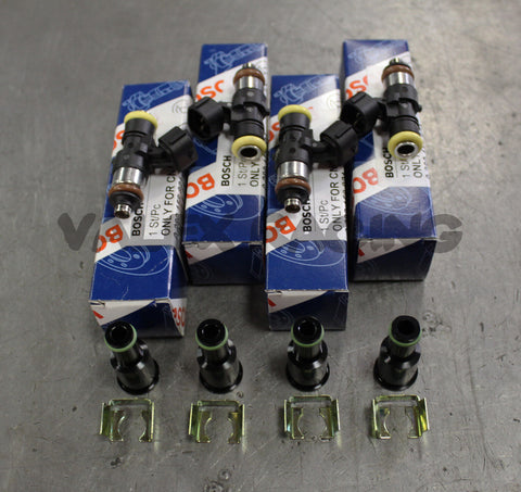 Bosch EV14 2200cc Fuel Injectors Set For Honda Acura B Series with Adapters