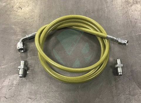 Master to Slave Cylinder Complete Stainless Clutch Line 1994-2001 Acura Integra