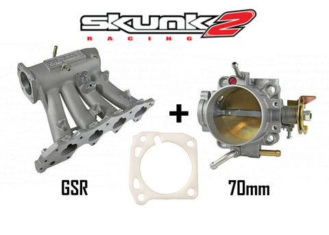 Skunk2 Pro Intake Manifold & Alpha 70mm Throttle Body for Honda Acura GSR B18C1