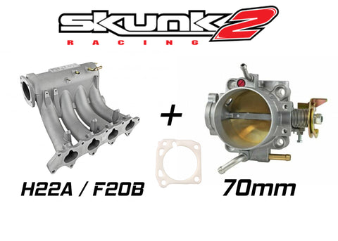 Skunk2 Pro Intake Manifold & Alpha 70mm Throttle Body for Honda H / F Series H22 F20B