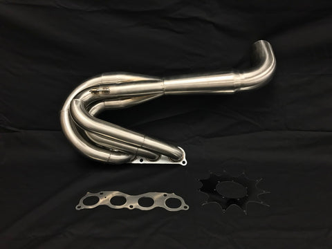 Private Label MFG (PLM) K-Series hood exit race header (4-1 Megaphone) NON LEAN