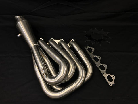 Private Label MFG PLM Power Driven B-Series Hood Exit Race Header 4-1 Megaphone