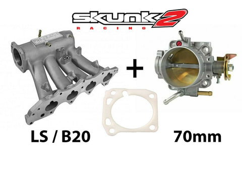 Skunk2 Pro Intake Manifold & Alpha 70mm Throttle Body for Honda Acura LS B20 B18