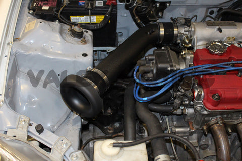 "3"" Black Intake Kit with Blox Racing 3"" Velocity Stack Honda Acura"