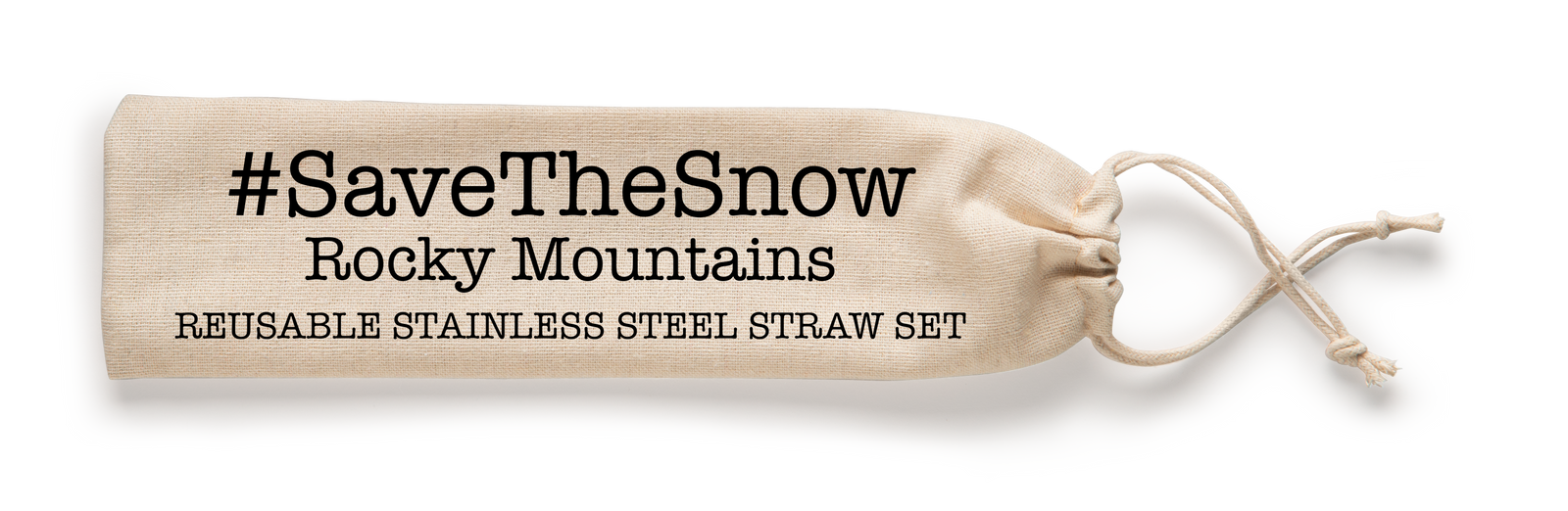 #SaveTheSnow Rocky Mountains Reusable Drinking Straw