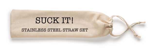 Suck It! Reusable Stainless Steel Straw Set