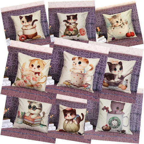 New Cushion Pillows Cute Cat Pillow