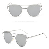 Vintage Mirror Women Cat Eye Sunglasses