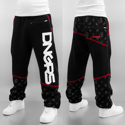 Dangerous DNGRS / Sweat Pant Crosshair Sweat Pants in black