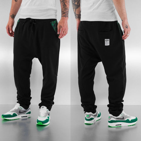 Dangerous DNGRS / Sweat Pant Weed in black