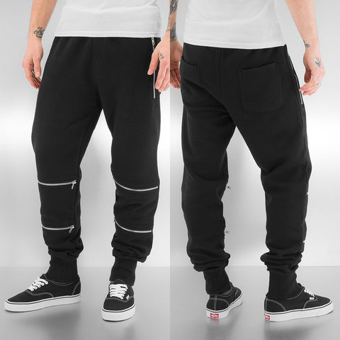 Just Rhyse / Sweat Pant Zip in black