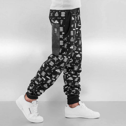 Dangerous DNGRS / Sweat Pant All Over in black