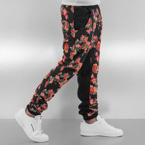 Just Rhyse / Sweat Pant Flower in black