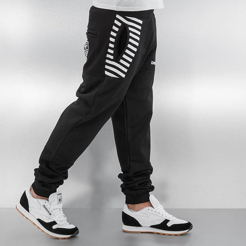 Dangerous DNGRS / Sweat Pant Race City II in black