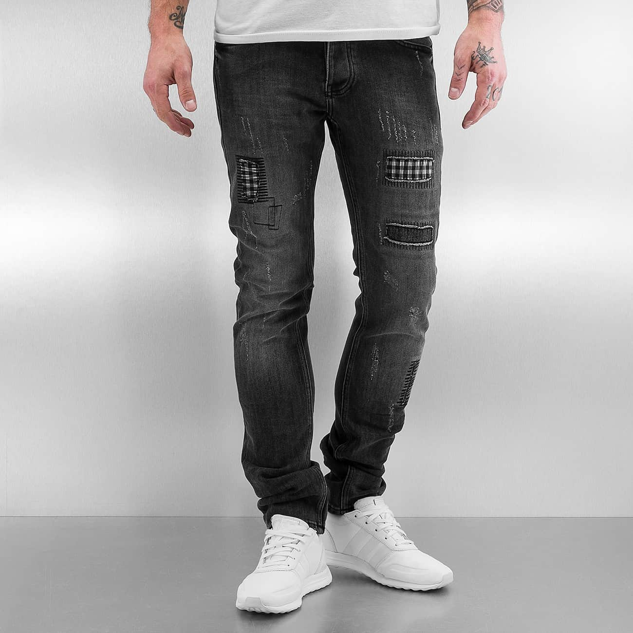 2Y / Skinny Jeans Patchwork in gray - Streetscenter