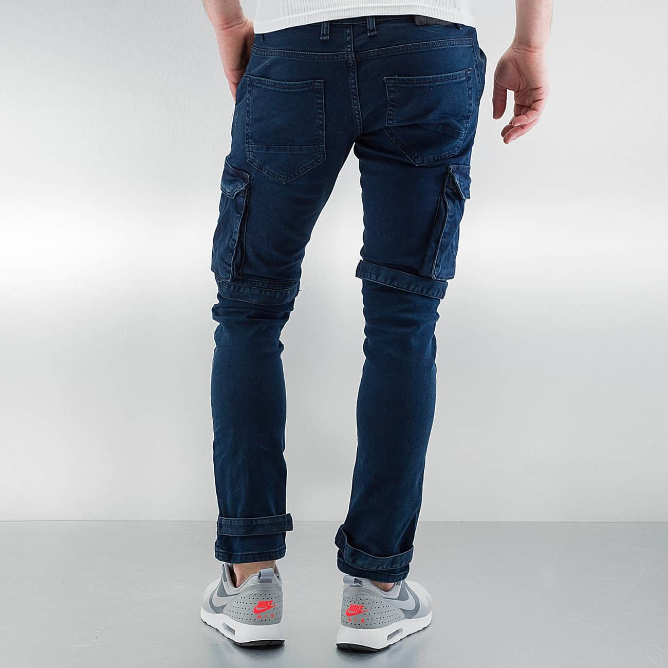2Y / Cargo Velcro Closure in blue - Streetscenter