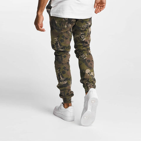 Dangerous DNGRS / Slim Fit Jeans Skullcamo in camouflage
