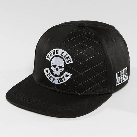Thug Life / Snapback Cap Whitline in black