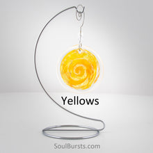 Load image into Gallery viewer, Cremation Suncatcher - Yellow Orange