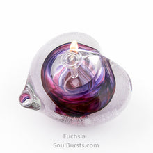 Load image into Gallery viewer, Cremation Glass Heart - Purple Fuchsia