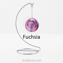 Load image into Gallery viewer, Cremation Suncatcher - Fuchsia