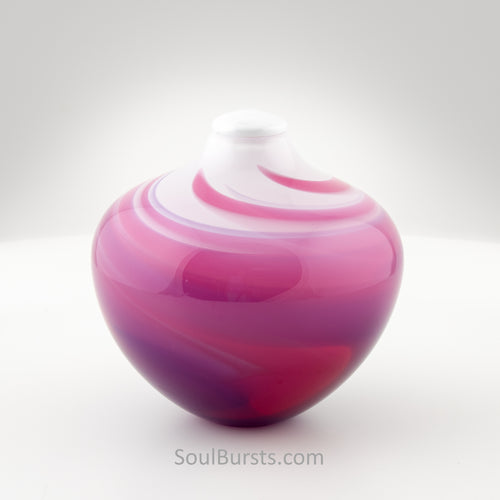 Rose Garden Blown Glass Urn
