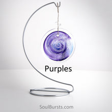 Load image into Gallery viewer, Cremation Suncatcher - Purple