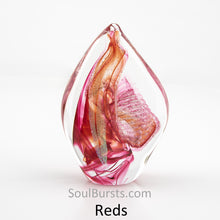 Load image into Gallery viewer, Cremation Ashes in Glass - Red Spirit Sail