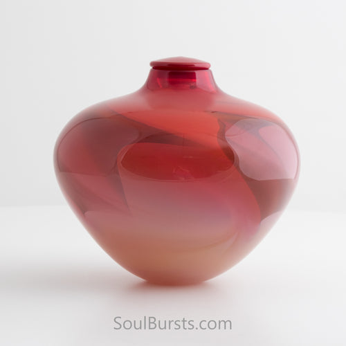Red Glass Urn for Ashes