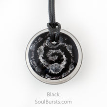 Load image into Gallery viewer, Glass Pendant with Ashes - Cremation Jewelry - Black