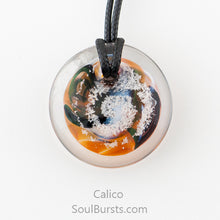 Load image into Gallery viewer, Glass Pendant with Ashes - Cremation Jewelry - Calico