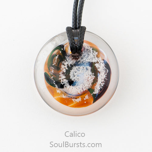 Glass Pendant with Ashes - Forever