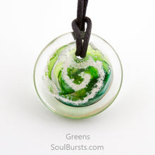 Load image into Gallery viewer, Glass Pendant with Ashes - Cremation Jewelry - Green