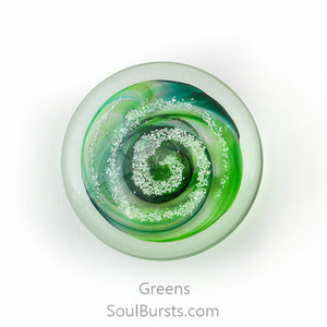 Cremation Stones for Ashes - Forever Touchstones - Green