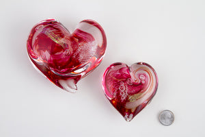 Glass Heart with Ashes - Sizes