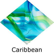 Load image into Gallery viewer, Blown Glass with Ashes - Caribbean