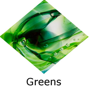 Blown Glass with Ashes - Green
