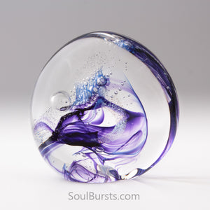 Blown Glass with Ashes - Purple