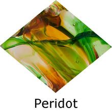 Load image into Gallery viewer, Blown Glass with Ashes - Peridot