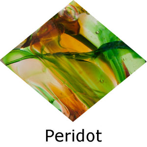 Blown Glass with Ashes - Peridot
