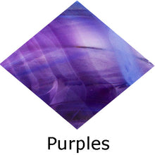Load image into Gallery viewer, Blown Glass with Ashes - Purple