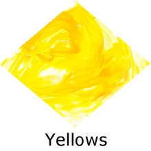 Load image into Gallery viewer, Blown Glass with Ashes - Yellow