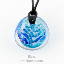 Load image into Gallery viewer, Glass Cremation Necklace - River - Blue