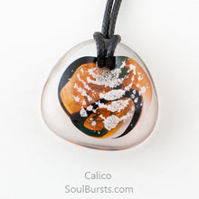 Load image into Gallery viewer, Glass Cremation Necklace - River - Calico