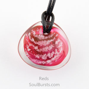 cremation ash glass pendant