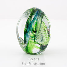 Load image into Gallery viewer, Glass Cremation Keepsakes - Green Soul Dance