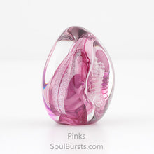 Load image into Gallery viewer, Glass Cremation Keepsakes - Pink Soul Dance