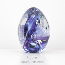 Load image into Gallery viewer, Glass Cremation Keepsakes - Purple Soul Dance