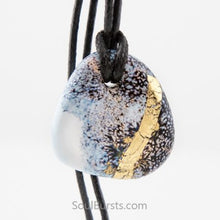 Load image into Gallery viewer, Glass Cremation Pendant - Whisper - Grey, Gold