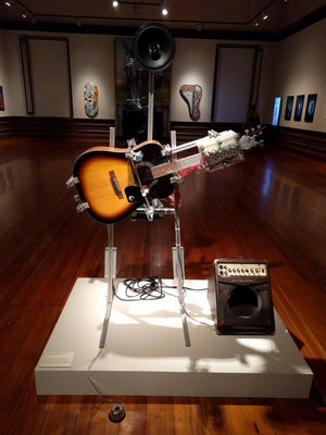 Guitar-Playing Robot Plays American Folk Music